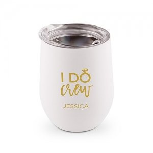 I Do Crew Personalized Stemless Travel Tumbler (Color Option image