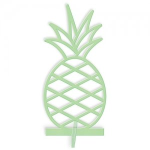 Acrylic Pineapple Tabletop Decoration In Daiquiri Green image
