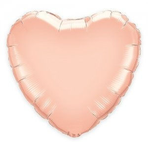 Rose Gold Foil Heart Balloon - 2 Sizes image