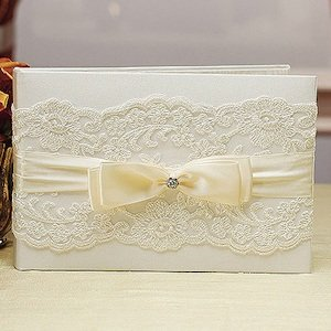 Beverly Clark French Lace Wedding Guest Book image