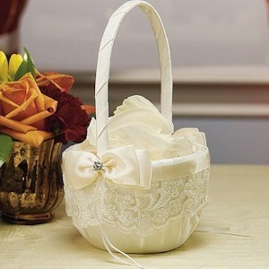Beverly Clark French Lace Flower Girl Basket image