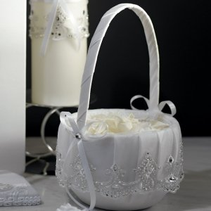 Beverly Clark Royal Lace Collection Flower Girls Basket image