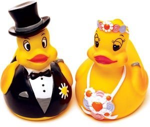 Bride & Groom Rubber Duckies image