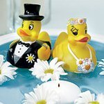 Bride & Groom Rubber Duckies