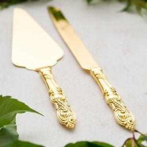 Golden Romance Cake Serving Set image