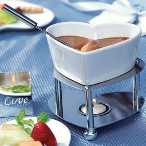 Heart-Shaped Fondue Set image