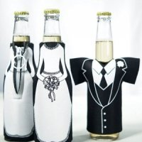 Tux & Dress Shaped Insulated Bottle Holders