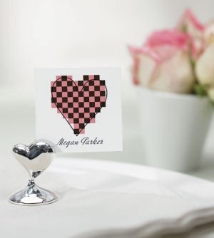 Whimsical Heart Seating Card Holders (Set of 8) image