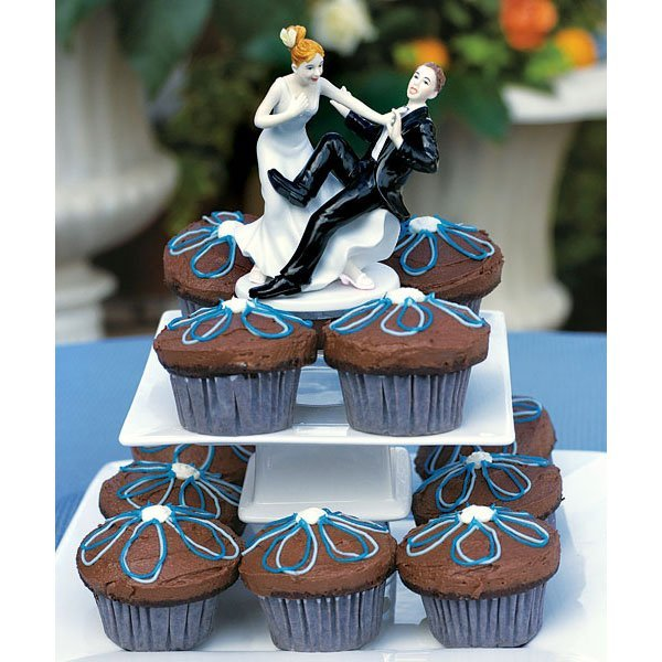 Funny Wedding Cake Topper Groom Taking The Plunge