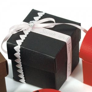Black Favor Boxes (Set of 10) image