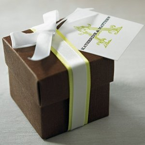 Chocolate Brown Favor Boxes (Set of 10) image