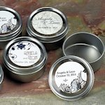 2 Inch Round Party Favor Tins with Clear Lids (8 Pack)