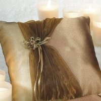 Elegant Bronze Gold Ring Bearer Pillow