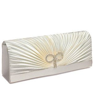 Classic Rouching and Crystal Bow Evening Bag image