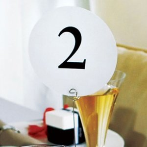 Round Table Number Cards image