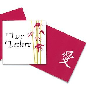 Asian Bamboo Wedding Name Cards image