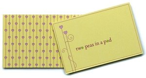 Two Peas in a Pod Place Cards for Weddings (12 Pack) image