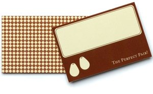 'The Perfect Pair' Place Cards for Weddings (12 Pack) image