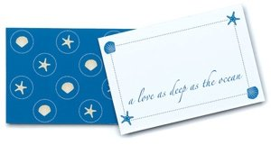 Beach Themed Wedding Place Cards/Hang Tags (Set of 12) image