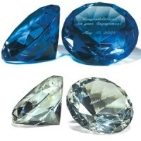 Diamond Shaped Paper Weight - Clear