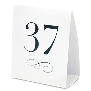 Tent Style Wedding Table Number Cards (Set of 12) image