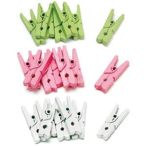 Mini Wooden Clips (Set of 24) image