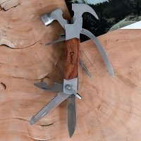 Personalized Rose Wood Handle Hammer Multi-tool