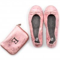 Foldable Flats Pink Pocket Shoes