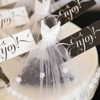 Mini Tux & Dress Favor Bags (Bride and Groom)