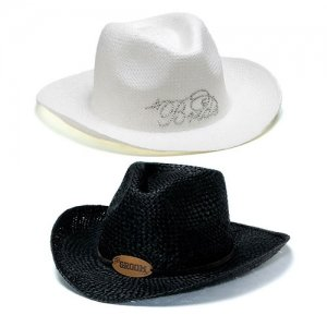 Groom & Bride Cowboy Hats image