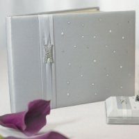 Platinum and Pearls Silver Wedding Guest Book