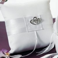 Double Heart Square Ring Boy Pillow (2 Colors)