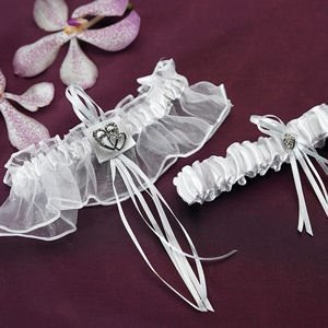Double Heart Two Piece Garter Set image
