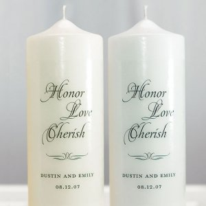 Custom Honor Love Cherish Unity Candle image