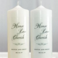 Custom Honor Love Cherish Unity Candle