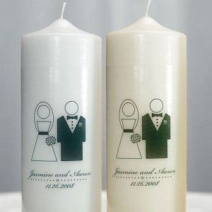 Personalized Bride & Groom Unity Candle image