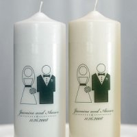 Personalized Bride & Groom Unity Candle