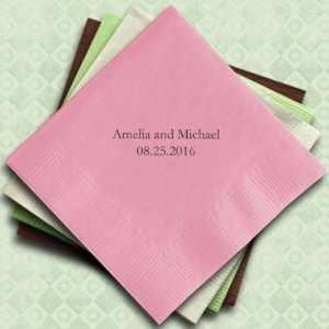 Personalized Napkins (25 Colors) image