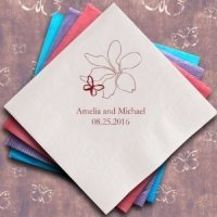 Butterfly Garden Personalized Napkins (25 Colors)