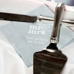 Personalized Mr and Mrs Wedding Napkins (25 Colors)
