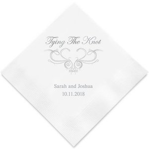Tying the Knot Imprinted Wedding Napkins (25 Colors) image