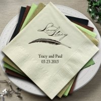 Love Story Personalized Napkins (25 Colors)