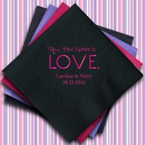 All You Need is Love Personalized Napkins (25 Colors) image