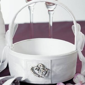 Double Heart Flower Girl Basket image