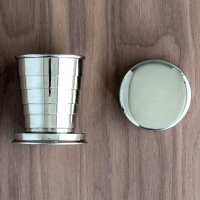 Stainless Steel Collapsing Shot Glass with Lid
