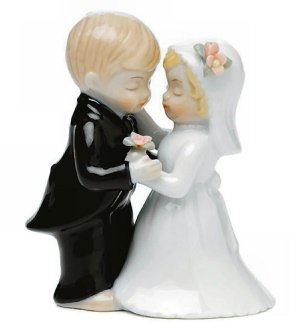 The Cute Couple Wedding Figurine image