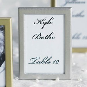 Easel Back Mini Photo Silver Frames (Set of 3) image