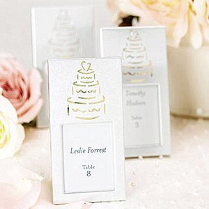 Silver Wedding Cake Mini Frames image