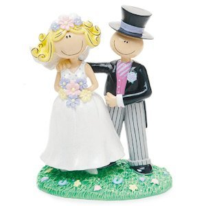 Comical Bride and Groom Couple Figurine image