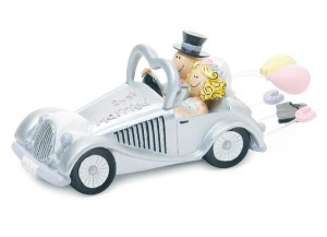 Just Married Get-a-way Car Figurine image
